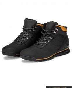 """T247J, stilingi vyriški Juodi žieminiai laisvalaikio batai vyrams """"Budfi"""" internetu pigiau"""