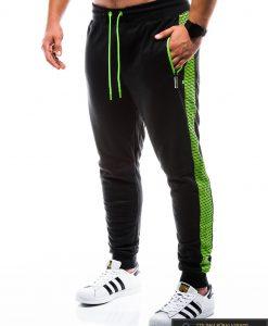 """P730J, stilingos vyriškos juodos sportinės kelnės vyrams """"Treks"""" internetu pigiau"""