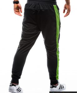 P730J, stilingos vyriškos juodos sportinės kelnės vyrams