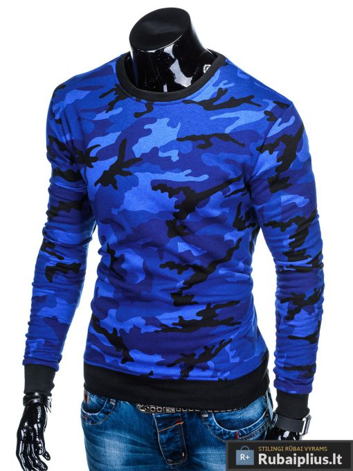"""B885M, Stilingas Mėlynas kamufliažinisvyriškas megztinis dzemperis vyrams """"Robin"""" internetu pigiau"""