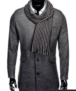 """C25P, Stilingas klasikinis pilkas vyriškas paltas vyrams """"Victor"""" internetu pigiau"""