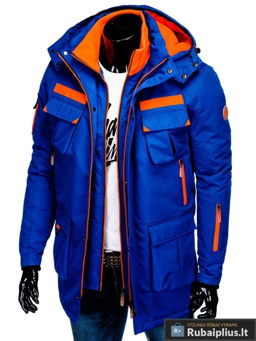 """C379M, PARKA tipo Mėlyna žieminė vyriška striukė vyrams """"Raf"""" internetu pigiau"""