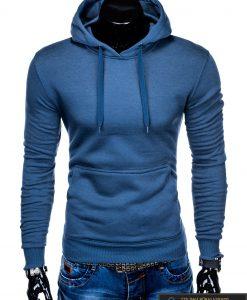 """B873M, madingas Mėlynas vyriškas džemperis vyrams su gobtuvu """"Lanson"""" internetu pigiau"""