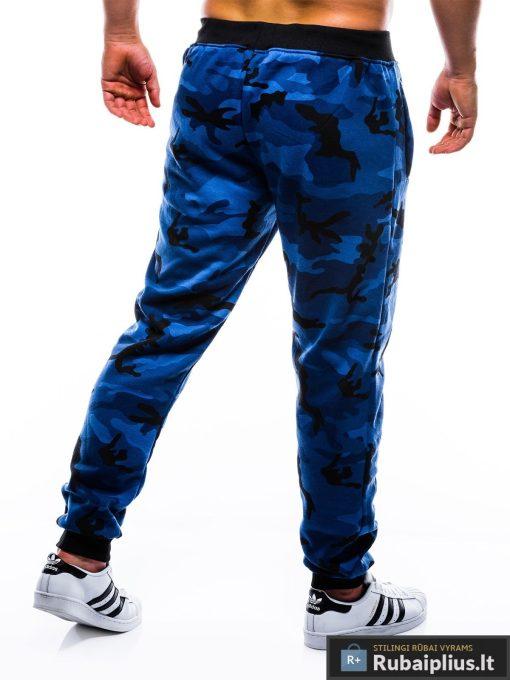 """P762M, madingos vyriškos Mėlynos kamufliažinės sportinės kelnės vyrams """"Fuzo"""" internetu pigiau"""