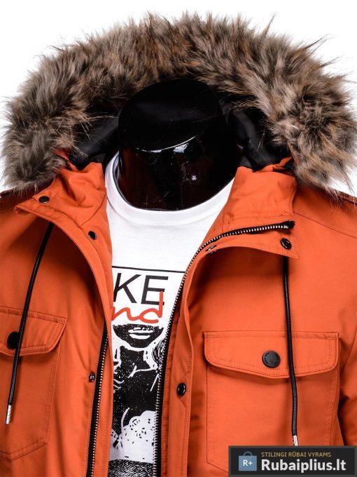 """C382BR, ALASKA tipo PARKA Oranžinė žieminė vyriška striukė vyrams """"Ritorn"""" internetu pigiau"""