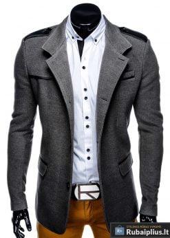 "C92P, vyriskas Stilingas pilkas paltas vyrams ""Augustin"" internetu pigiau"