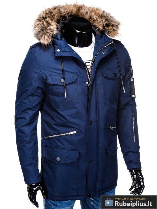 """C382TM, ALASKA tipo PARKA Tamsiai mėlyna žieminė vyriška striukė vyrams """"Ritorn"""" internetu pigiau"""