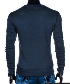 B874TM, stilingas Tamsiai mėlynas vyriškas džemperis vyrams