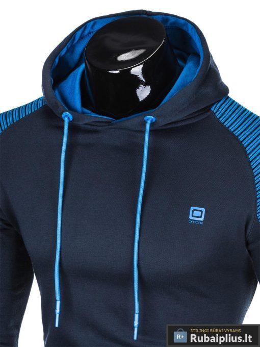 """B821TM, madingas vyriškas Tamsiai mėlynas vyriškas džemperis su gobtuvu""""Dreks"""" internetu pigiau"""