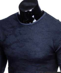 E115TM, Stilingas tamsiai mėlynas vyriškas megztinis