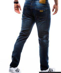 P780, stilingi vyriski Tamsiai mėlyni klasikiniaidžinsai vyrams
