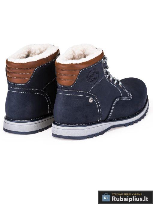 """T248TM, stilingi vyriški Tamsiai mėlyni žieminiai batai vyrams """"Futsi"""" internetu pigiau"""