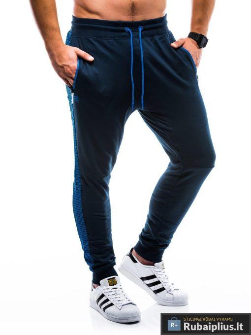 """P730TM, stilingos vyriškos tamsiai mėlynos sportinės kelnės vyrams """"Treks"""" internetu pigiau"""