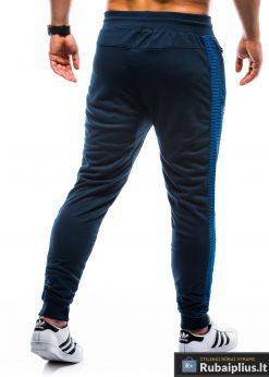 P730TM, stilingos vyriškos tamsiai mėlynos sportinės kelnės vyrams