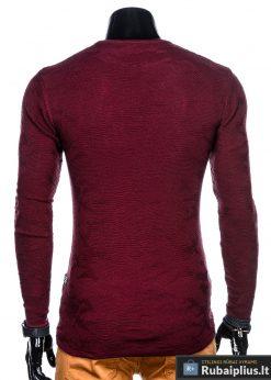 E115TR, Stilingas tamsiai raudonas vyriškas megztinis