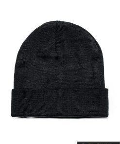 """viriska vienspalvė juoda kepurė vyrams """"Fax"""" internetu pigiau"""