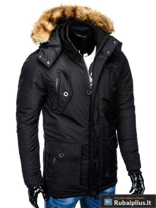 """C361J, ALASKA tipo Juoda žieminė vyriška striukė vyrams """"Jursk"""" internetu pigiau"""