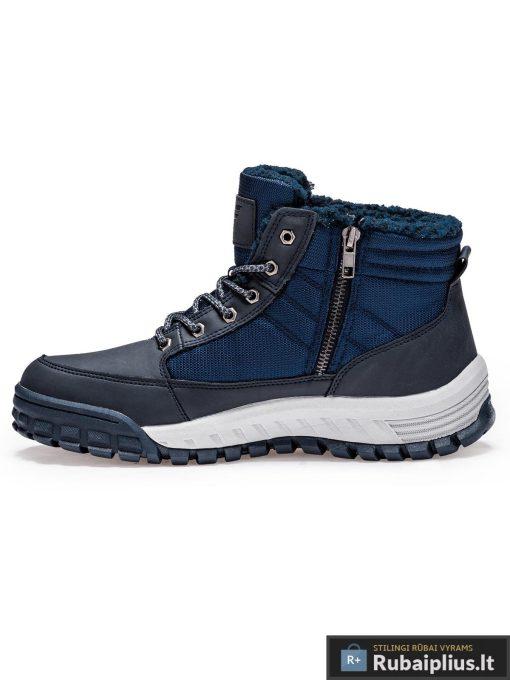 """T254M, juodi-mėlyni vyriski vandeniui atsparūs žieminiai batai vyrams """"Woof"""" internetu pigiau"""