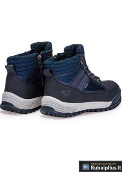 T254M, juodi-mėlyni vyriski vandeniui atsparūs žieminiai batai vyrams