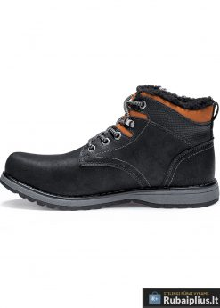 T252J, vyriski Juodi žieminiai batai vyrams