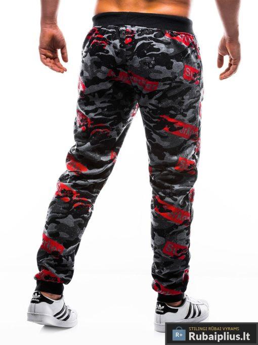 """P798TP, vyriskos Tamsiai pilkoskamufliažinės sportinės kelnės vyrams """"Perker"""" internetu pigiau"""