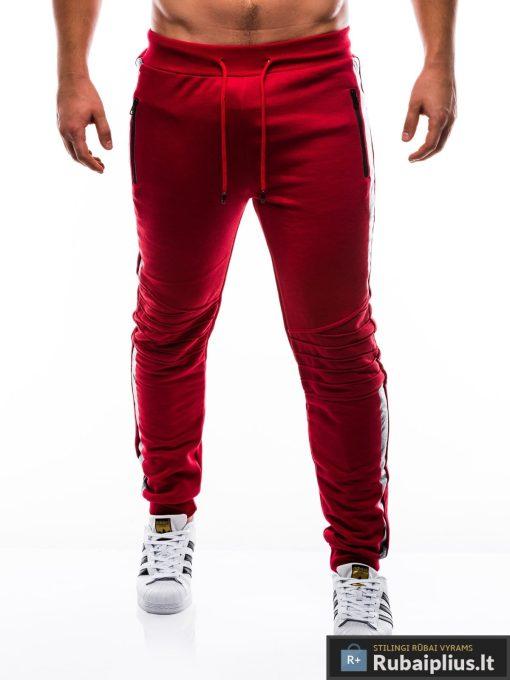 raudonos-sportines-kelnes-vyrams-indor-P803-1