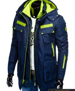 "C379TM, PARKA tipo Tamsiai mėlyna žieminė vyriška striukė vyrams ""Raf"" internetu pigiau"