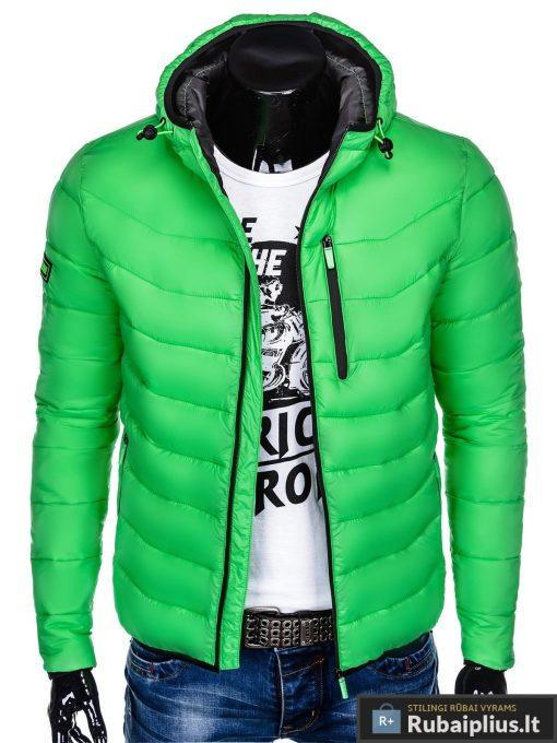 """C371Z, BOMBER stiliaus Šviesiai žaliarudeninė-pavasarinė vyriška striukė vyrams """"Sorto"""" internetu pigiau"""