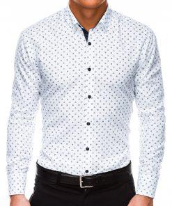 Stilingi balti vyriški marškiniai internetu Inkaras-3510_1