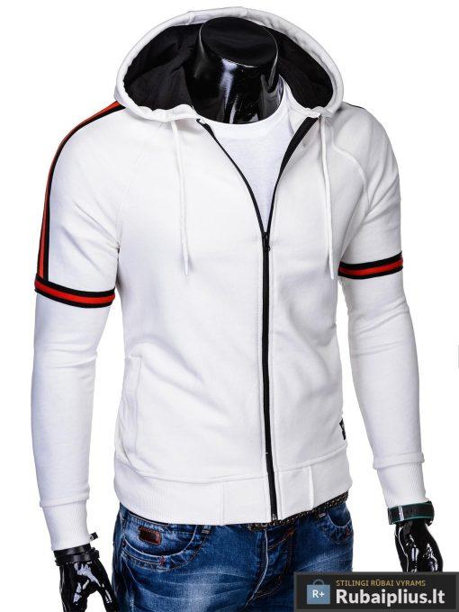 """stilingas madingas Baltas-kreminis vyriškas džemperis su gobtuvu vyrams """"Moss"""" internetu pigiau B909BEG"""