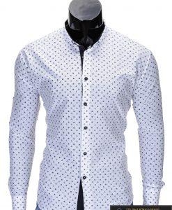 """Stilingi ir madingi balti vyriški marškiniai vyrams """"Inkaras"""" internetu pigiau K314B"""