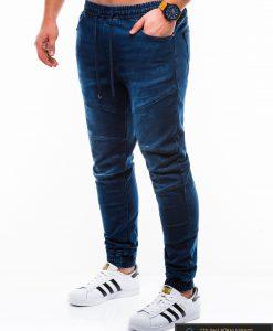 Stilingi vyriski Jogger tipo mėlyni džinsai vyrams internetu pigiau P812