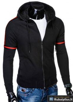 madingas ir stilingas juodas vyriškas džemperis vyrams su gobtuvu