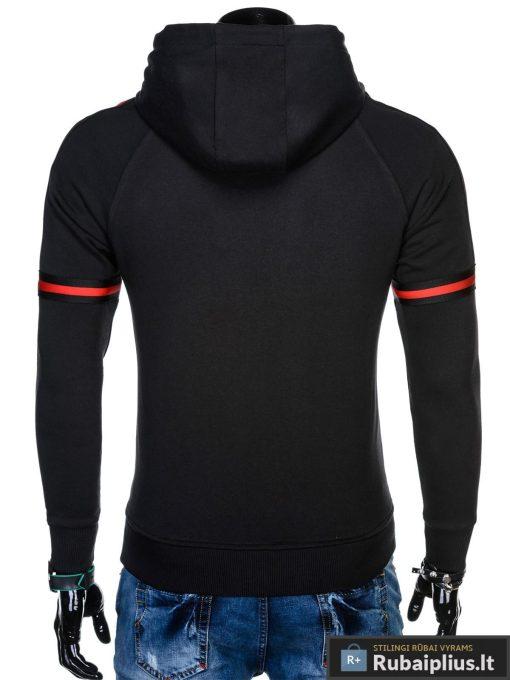 """madingas ir stilingas juodas vyriškas džemperis vyrams su gobtuvu """"Moss"""" internetu pigiau B909J"""