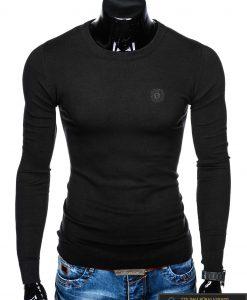 madingas juodas vyriškas megztinis vyrams internetu pigiau E122J