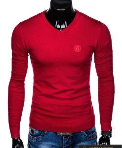 """E74RAU, stilingas Raudonas vyriškas megztinis vyrams """"Ombre"""" internetu pigiau"""
