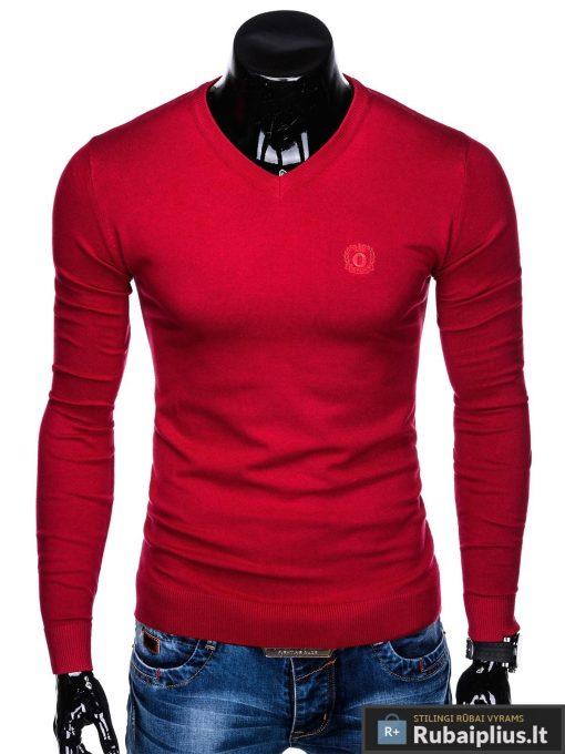 raudonas-vyriskas-megztinis-ombre-E74-1