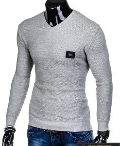 """stilingas elegantiškas pilkas vyriškas megztinis vyrams """"Vors"""" internetu pigiau E147P"""