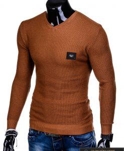 """elegantiškas stilingas Rudas vyriškas megztinis vyrams """"Vors"""" internetu pigiau E147RUD"""