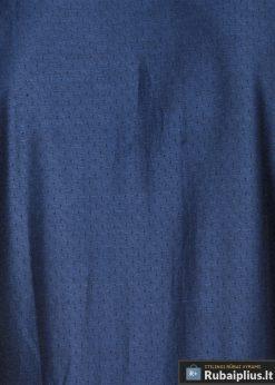 K464TTM, Stilingi tamsiai mėlyni vyriški marškiniai ilgomis rankovėmis