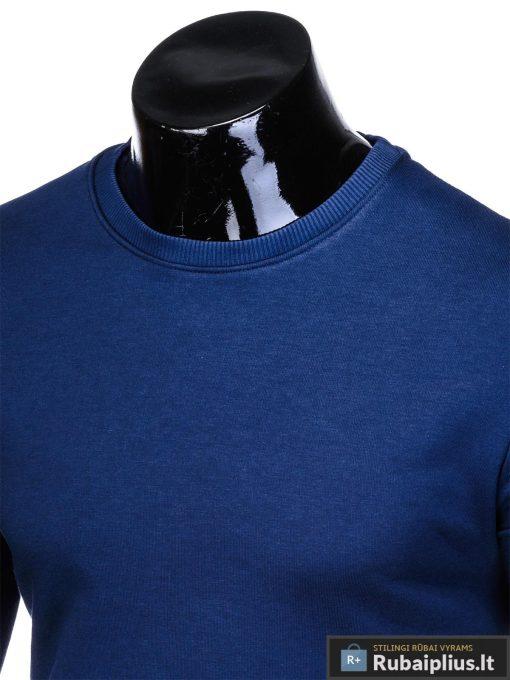 """stilingas vienspalvis tamsiai mėlynas vyriškas džemperis vyrams be gobtivo """"Osam"""" internetu pigiau B911TM"""