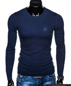 """stilingas Tamsiai mėlynas vyriškas megztinis vyrams """"Kwist"""" internetu pigiau E122TM"""