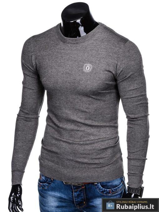 Stilingas Tamsiai pilkas melanžinis vyriškas megztinis vyrams internetu pigiau E122TPM