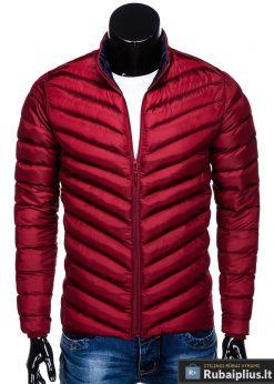 Stilinga Rudeninė-pavasarinė tamsiai raudona vyriška striukė vyrams internetu pigiau C344TR priekis