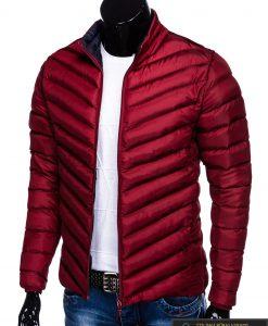 Stilinga Rudeninė-pavasarinė tamsiai raudona vyriška striukė vyrams internetu pigiau C344TR