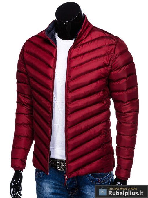 Stilinga Rudeninė-pavasarinė tamsiai raudona vyriška striukė vyrams internetu pigiau C344TR kairė