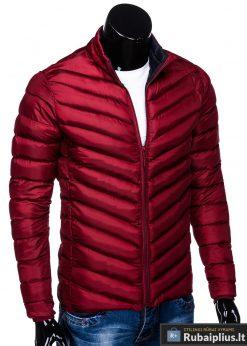 Stilinga Rudeninė-pavasarinė tamsiai raudona vyriška striukė vyrams internetu pigiau C344TR dešinė