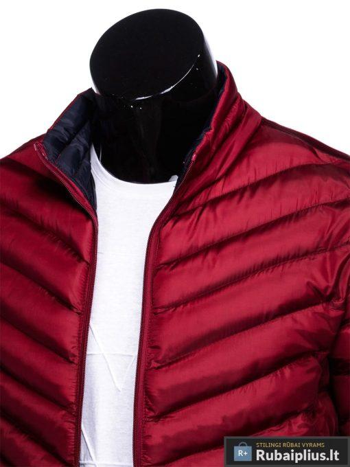 Stilinga Rudeninė-pavasarinė tamsiai raudona vyriška striukė vyrams internetu pigiau C344TR apykaklė