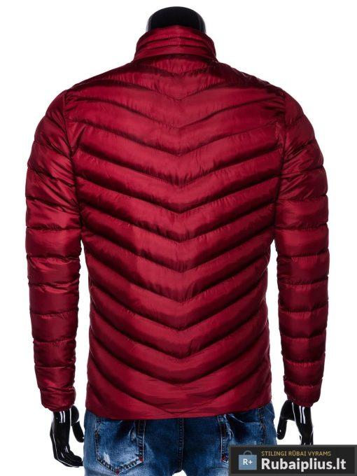Stilinga Rudeninė-pavasarinė tamsiai raudona vyriška striukė vyrams internetu pigiau C344TR nugara