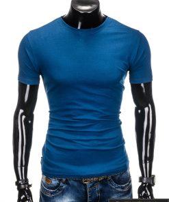 """Vyriski tamsiai žydri marškinėliai vyrams """"Lak"""" internetu pigiau s884TZ"""